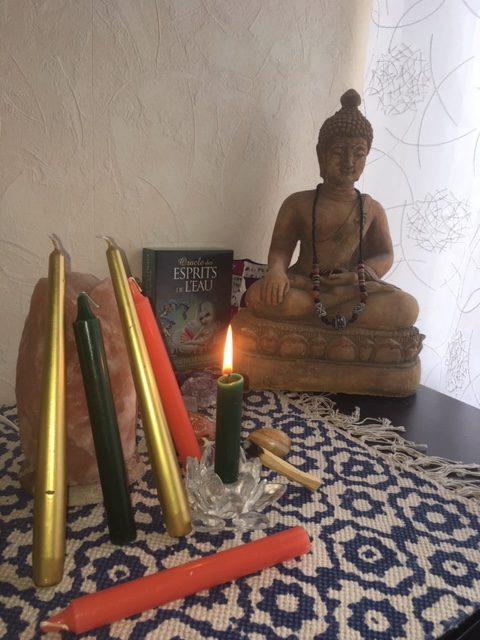 ancrage de l'intention grâce aux bougies en rituel