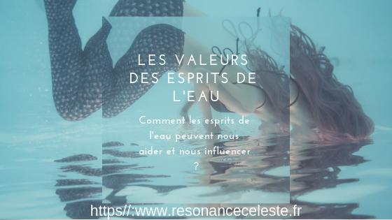les valeurs des esprits de l'eau pour le développement personnel