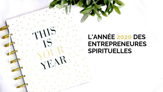 Les entrepreneures spirituelles et leur activité en 2020